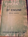 Toyota 2F engine repair manual Landcruiser USED
